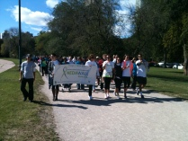 NEDA Walk with sign