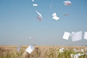 Paper Flying in Mid Air